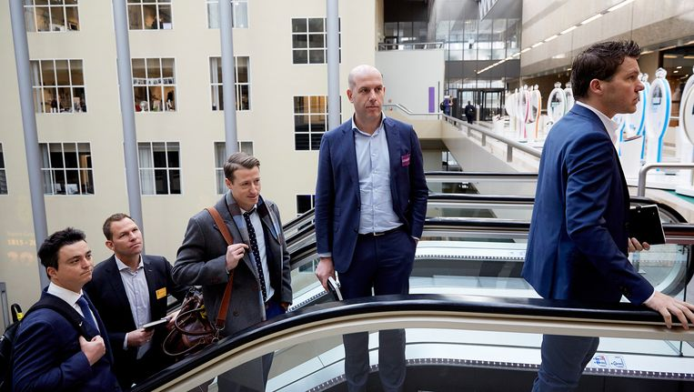 Gijs de Jong, operationeel directeur KNVB, voorafgaand aan een rondetafelgesprek in de Tweede Kamer over matchfixing, fraude en corruptie binnen het voetbal. Beeld anp