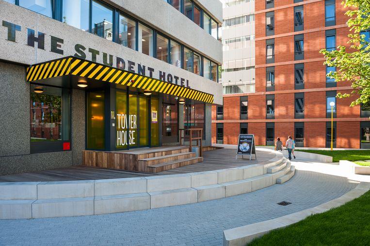 The Student Hotel aan de Jan van Galenstraat. Beeld Het Parool
