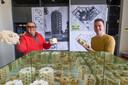 Architecten Peter Heuvelmans (links) en Hidde Engwerda hebben de bouwsteenwoning Living Blocks bedacht die te combineren is tot complexen, torens en villa's. Daarmee halen ze niet de finale van de Woonpioniers-wedstrijd van de VPRO.