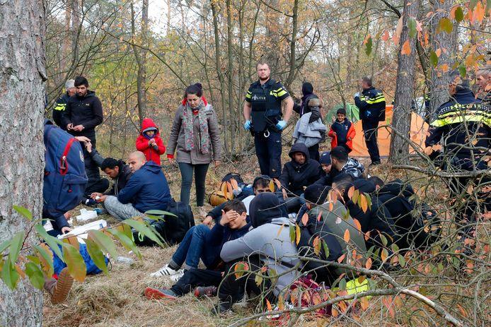 Eind oktober werd het tentenkamp van Irakese vluchtelingen in de bossen bij Bladel opgerold. De verdachte zou hier een tijdje hebben gewoond.