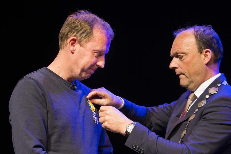 Ook Radio 538-dj Edwin Evers is Ridder in de Orde van Oranje-Nassau.  Beeld ANP