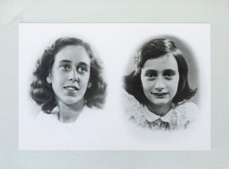 Jacqueline van Maarsen en Anne Frank. Foto uit privéarchief van Jacqueline van Maarsen. Beeld