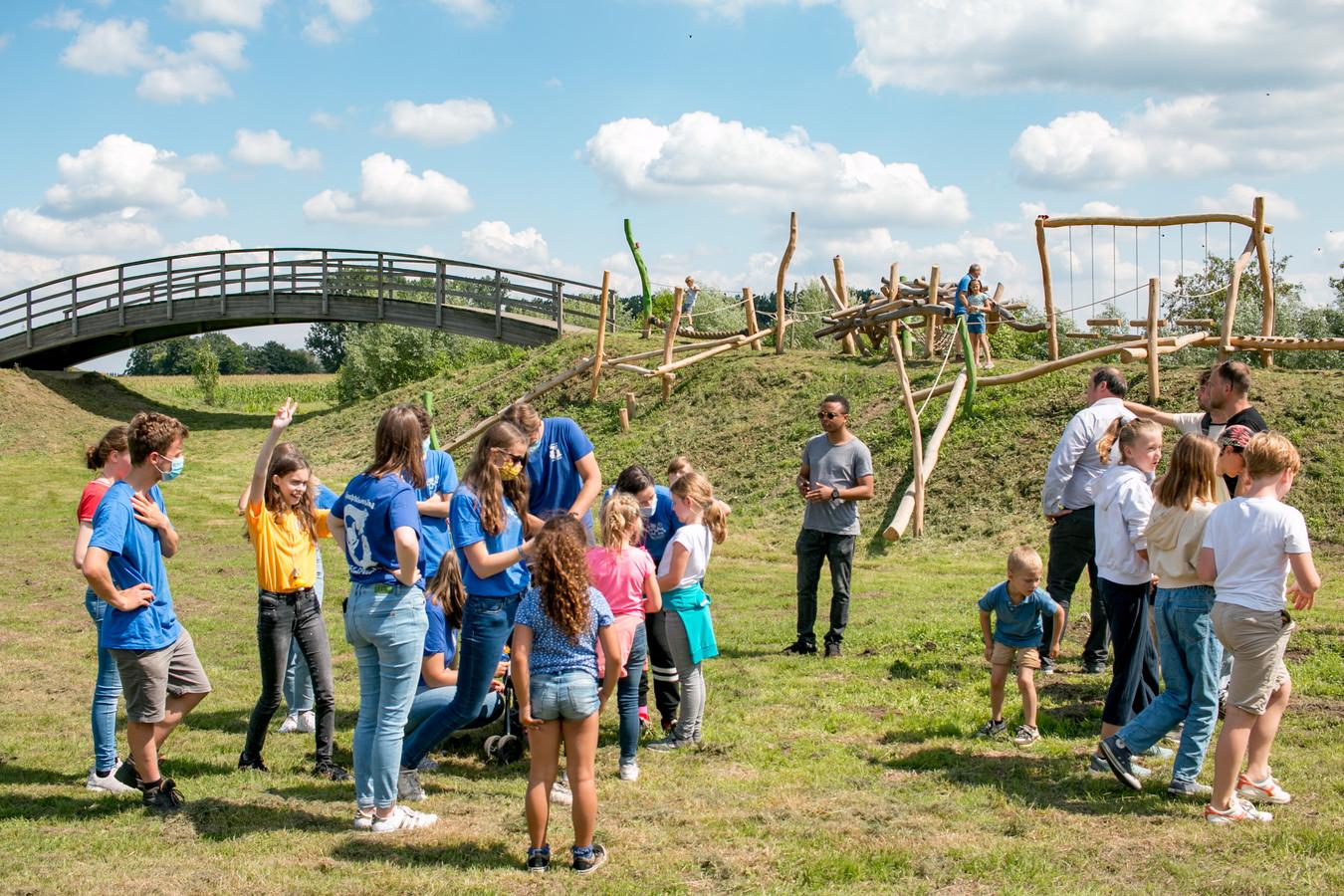 Het nieuwe speelterrein aan de Mierennest in Belsele.