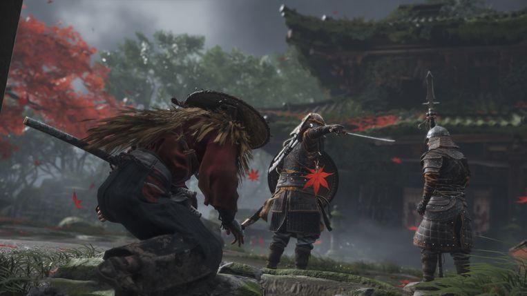 Weer twee Mongoolse krijgers die niet weten wat hun te wachten staat, terwijl Jin hen langzaam besluipt. Beeld Sony