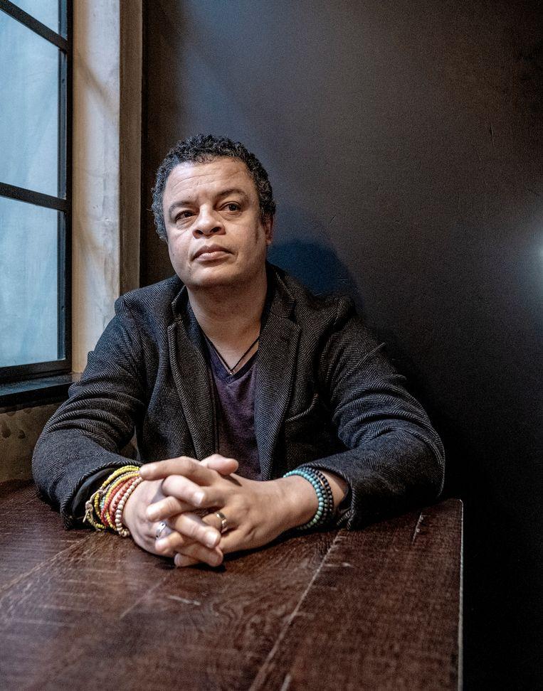 Alfred Schaffer. De Nederlandse dichter heeft de Herman de Coninckprijs 2021 gekregen voor zijn bundel 'Wie was ik'. Beeld Hollandse Hoogte / Patrick Post