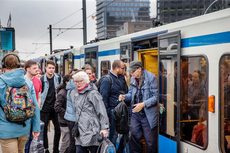 Metrostation Zuid, september 2018. Beeld Jean-Pierre Jans