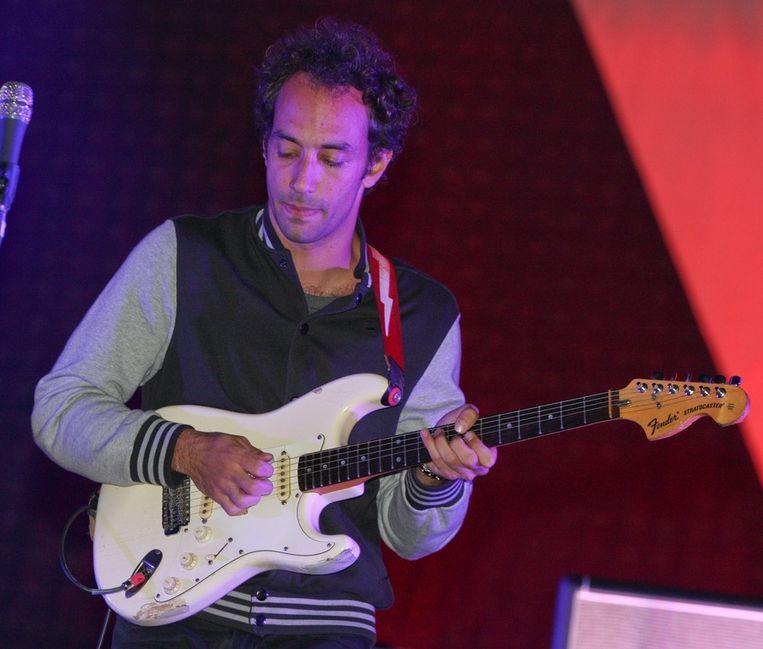 Gitarist Albert Hamming Jr. van The Strokes... Beeld bruno