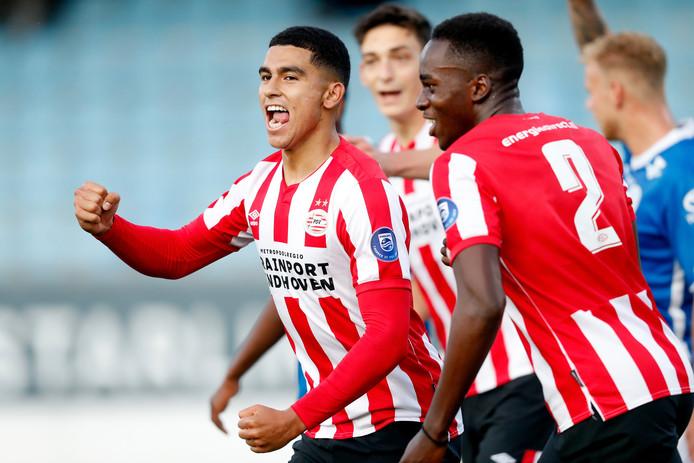 Zakaria Aboukhlal scoorde tegen FC Den Bosch voor Jong PSV.