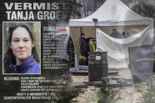 In Maastricht wordt vandaag gezocht naar de mogelijke resten van Tanja Groen