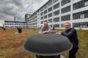 Maincourse, dat gevestigd is in het Klokgebouw, maakt visualisaties en animaties. Reinier Reynhout (links) en Mark Vankan mogen nu de lichtshow ontwerpen die het decor is van de Nederlandse inzending voor het aankomende Eurovisie Songfestival.