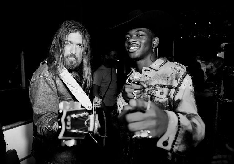 Billy Ray Cyrus (links) en Lil Nas X in Indio, Californië, april 2019. Beeld Getty