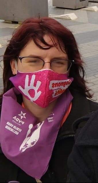 Aurore Linthout était à la manifestation pour la Journée des droits des femmes à Charleroi