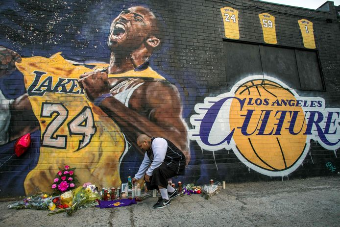 Een muurschildering van Kobe Bryant in Los Angeles..