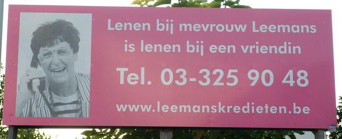 Margareta Leemans (88), beter bekend als mevrouw Leemans van Leemans Kredieten, is overleden.