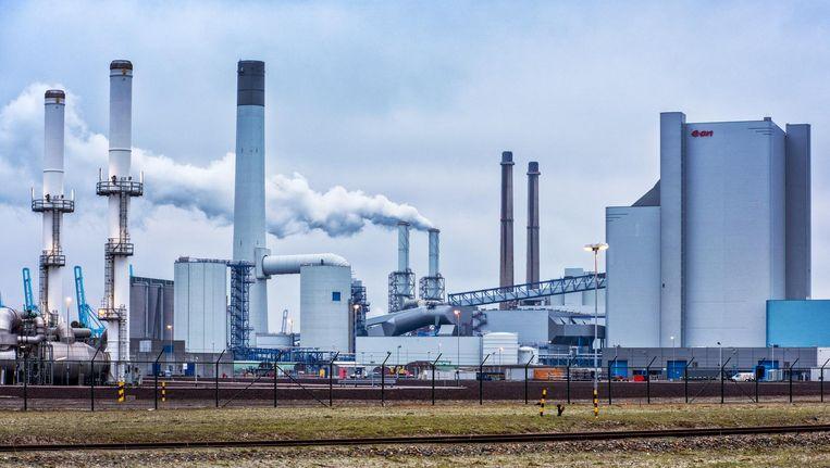 Nieuwe kolencentrale op de Rotterdamse Maasvlakte, 2015. Beeld Raymond Rutting / de Volkskrant