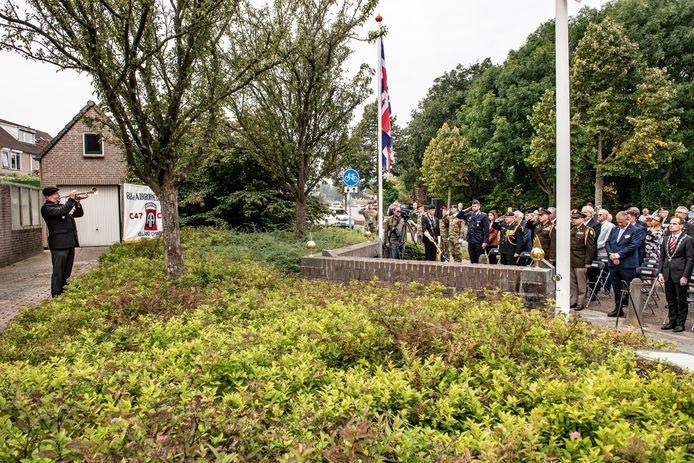 Vrijdag was er al een Market Garden-herdenking bij het Generaal Gavin Monument in Groesbeek.