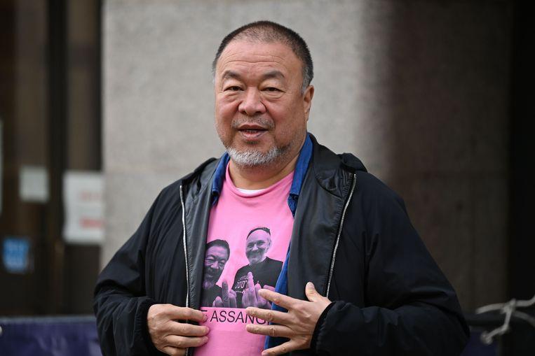 De Chinese dissidente kunstenaar Ai Weiwei in Londen, eind vorig jaar. Beeld AFP