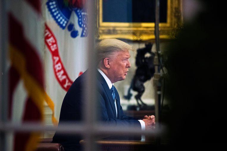 Donald Trump in de Oval Office. Beeld AP