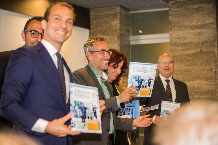 De Eindhovense wethouders bij de presentatie van coalitieakkoord, afgelopen voorjaar.