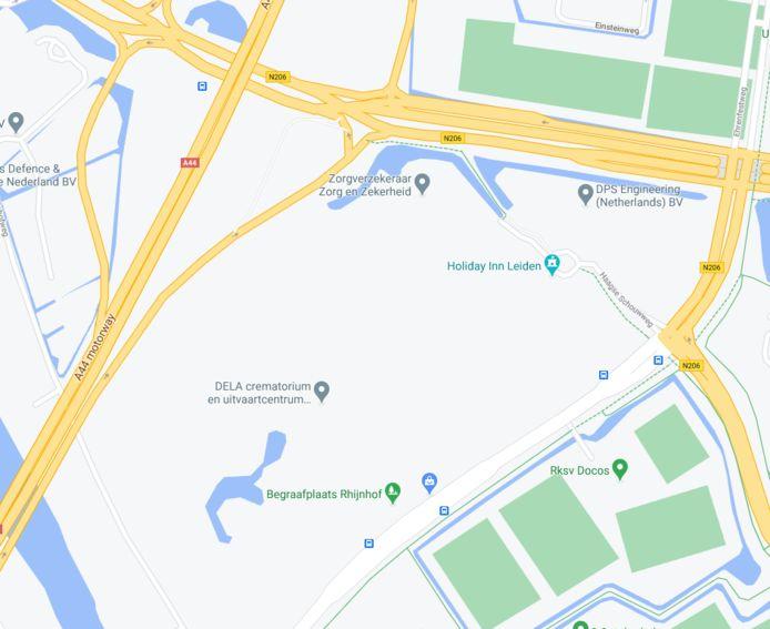 Het gebied waar Leiden Westerpoort in de toekomst moet verrijzen