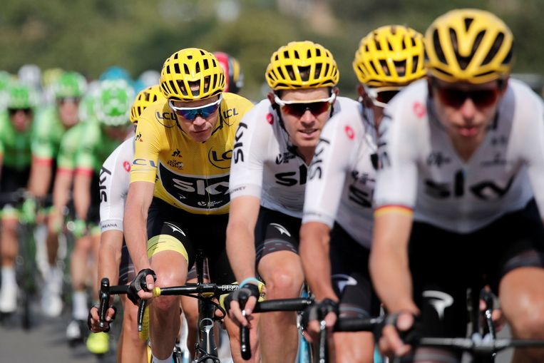 Cycling - The 104th Tour de France cycling race - The 222.5-km Stage 19 from Embrun to Salon-de-Provence, France - July 21, 2017 - Team Sky rider and yellow jersey Chris Froome of Britain in action. REUTERS/Benoit Tessier © PHOTO NEWS / PICTURE NOT INCLUDED IN THE CONTRACTS  ! only BELGIUM ! Beeld Photo News