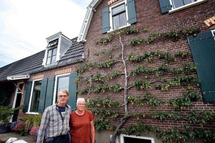 De woning van Piet en Cora Pannekoek, met de perenboom aan de zijgevel.