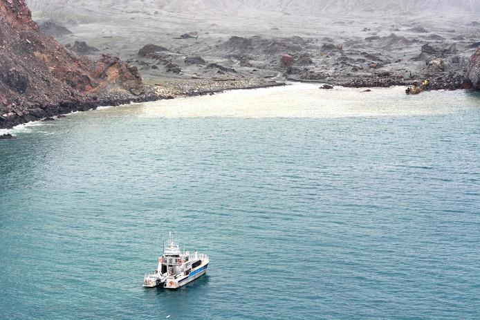 White Island après l'éruption