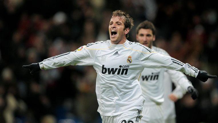 Rafael van der Vaart speelde twee seizoenen voor Real. In 73 wedstrijden scoorde hij 12 keer. Beeld Daniel Ochoa  de Olza/AP