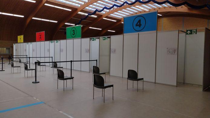 Het vaccinatiecentrum Colomba in Kortenberg.