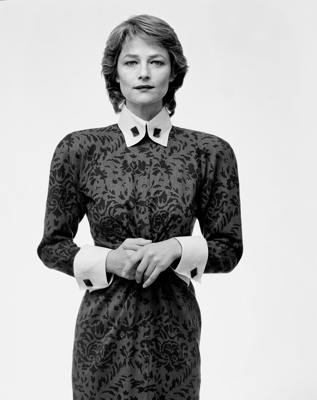 Charlotte Rampling, Rotterdam (1987), gefotografeerd door Pieter Vandermeer  Beeld Hollandse Hoogte / Nederlands Fotomuseum