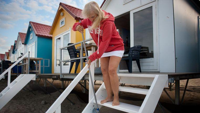 Vakantiehuisjes in Vlissingen, aan het strand. Beeld null