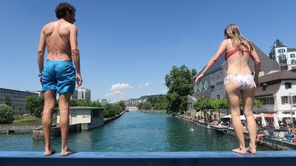 Verfrissende duik in Zürich
