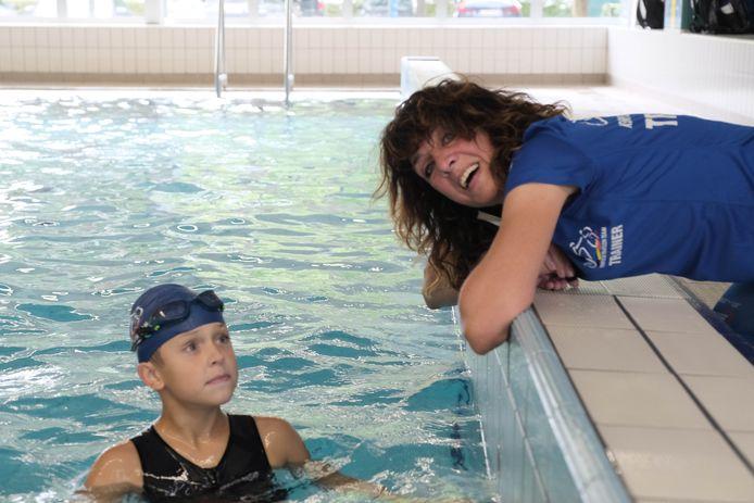 Brigitte Van Wichelen gaf vandaag training in het zwembad van Nijlen