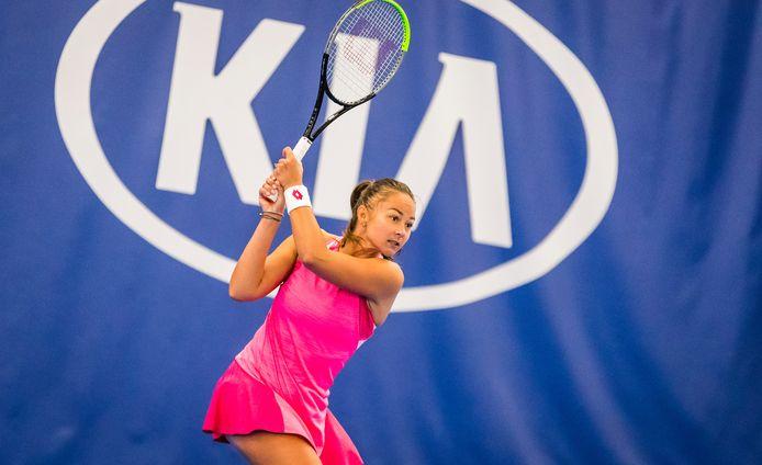Lesley Pattinama-Kerkhove in actie op het Nederlands kampioenschap in Amstelveen.