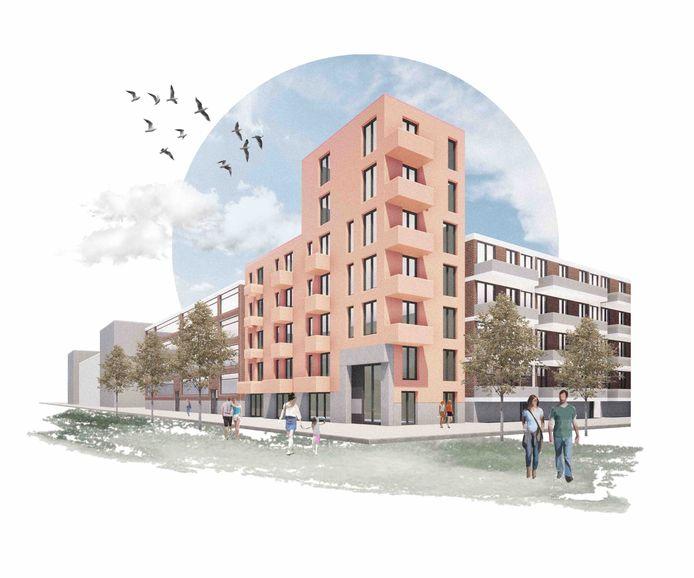 Een voorbeeld van hoe een wijk volgens de architecten van KAW verdicht kan worden.