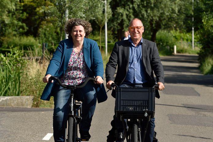 Hilde Niezen en GroenLinks-raadslid Rolf van der Mije.