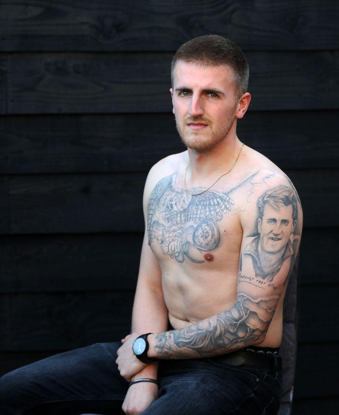 Voetballer Jordi Mosmans: ,,Ik heb  al mijn tatoeages in Newcastle laten zetten.''