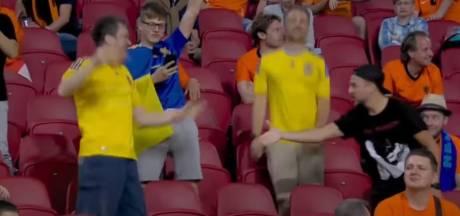 Internationale aandacht voor Oranje-fan die Oekraïne feliciteert met wereldgoal
