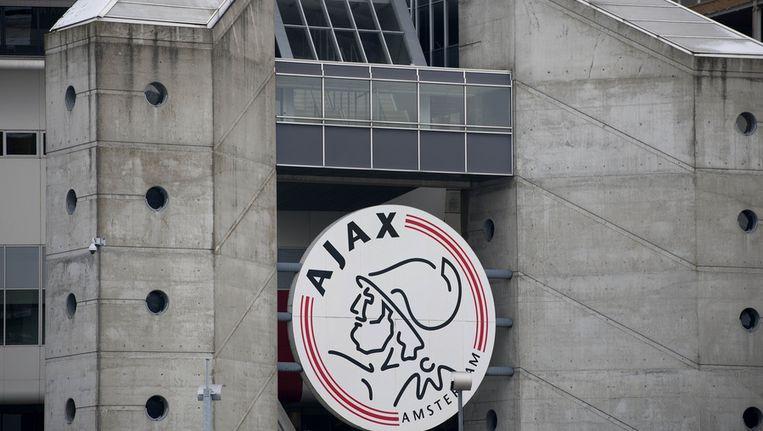 Het logo van Ajax op de Arena in Amsterdam Beeld ANP