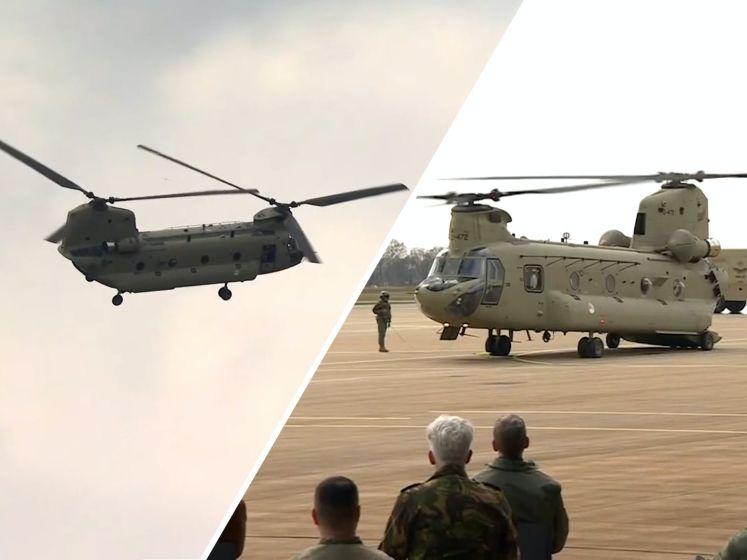 Overdracht eerste nieuwe Chinook op vliegbasis Gilze-Rijen