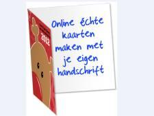 Eigen handschrift op online bestelde wenskaarten