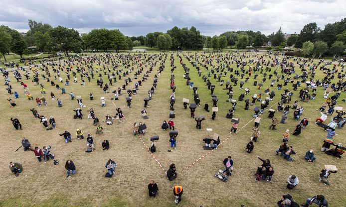 De Black Lives Matter-demonstratie in Zwolle.