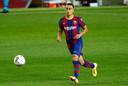 Sergiño Dest tijdens zijn eerste wedstrijd.
