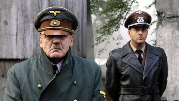Bruno Ganz als Adolf Hitler in 'Der Untergang'.  Beeld RV