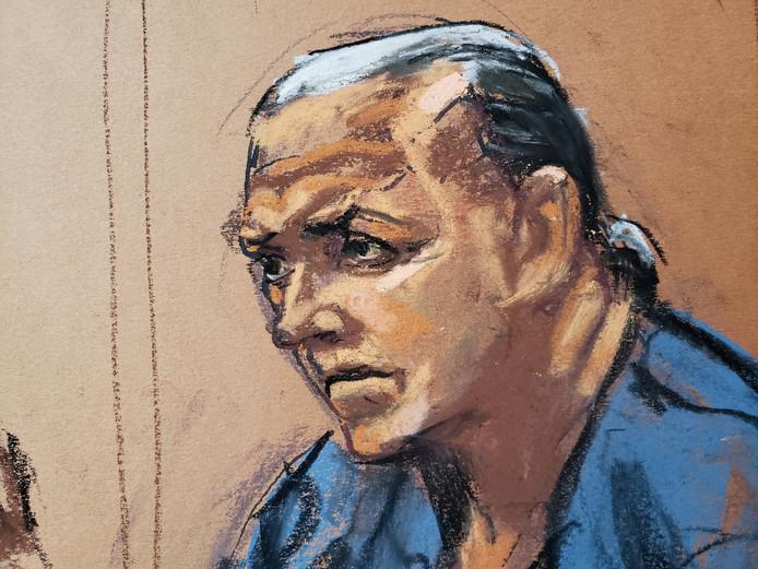 De 57-jarige verdachte Cesar Sayoc op een rechtbankschets.