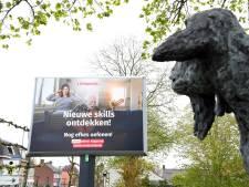Positieve digiborden in heel West-Brabant moeten hoop bieden in coronatijd: 'We zijn er bijna'