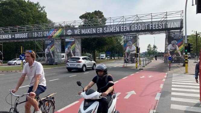 Nauwelijks verkeersdrukte door WK in en rond Brugge