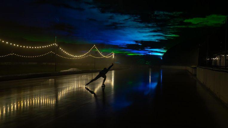 Schaatsen onder het Noorderlicht kan dit weekend bij de Jaap Edenbaan Beeld Organisatie Schaatsen Noorderlicht