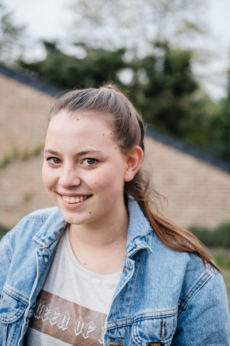 Elien Verholen, vierde jaar sociale en technische wetenschappen Beeld Wouter Van Vooren