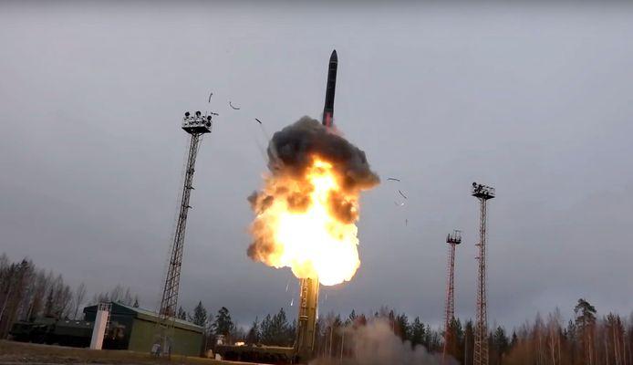 Missile intercontinental tiré de Russie